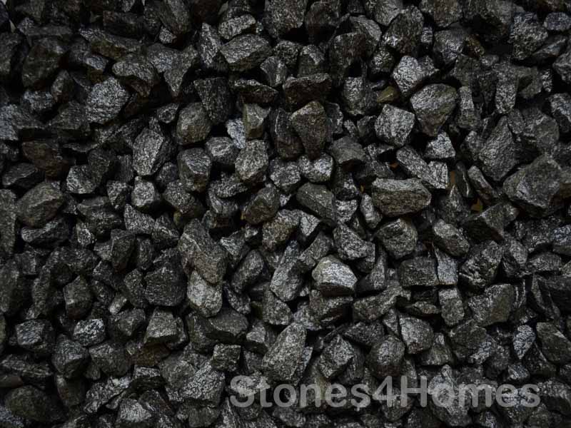 Black Basalt 20mm Charcoal Driveway Gravel Stones4homes