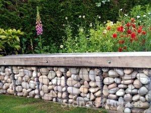 Stones4Homes Scottish Cobble Gabion Wall