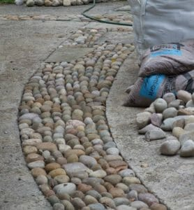 Stones4Homes Cobbles used in the work of the famous Stonemason and Sculptor Johnny Clasper https://www.johnnyclasper.co.uk/
