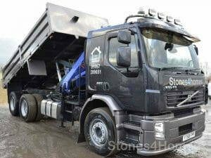 Stones4Homes Tipper and Crane Truck