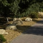 Stones4Homes large rocks with 20mm golden gravel